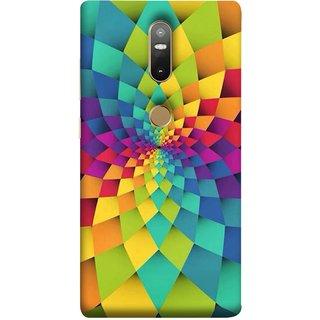 FUSON Designer Back Case Cover For Lenovo Phab 2 Plus :: Lenovo Phab2+ (Polygonal Background Colorful Abstract Geometric Best)