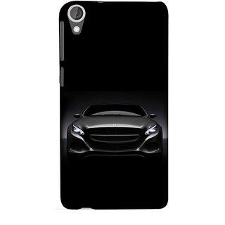 FUSON Designer Back Case Cover For HTC Desire 825 (Road Black White Clouds Beautiful Road Blue Side Mirror)
