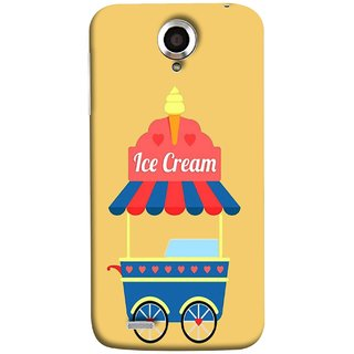 FUSON Designer Back Case Cover For Lenovo S820 (Ice Cone Pineapple Flavour Wheels Hearts Shade )