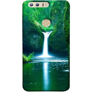 FUSON Designer Back Case Cover For Huawei Honor 8 (Mountains & Waterfalls Images Green Lake Desktop)