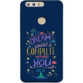 FUSON Designer Back Case Cover For Huawei Honor 8 (Couple Marriage Engegement Lovers Family Love Kisses)