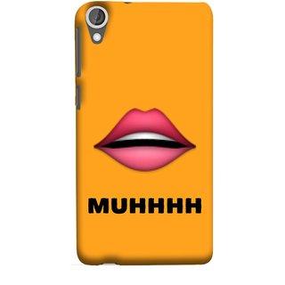 FUSON Designer Back Case Cover For HTC Desire 825 (Red Lips Pinky Flying Kisses Girl Lovers Couples Hot)
