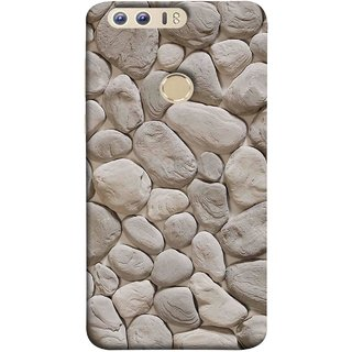 FUSON Designer Back Case Cover For Huawei Honor 8 (Landscape River Old Rock Sizes Irregular Shapes Mat)