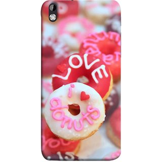 FUSON Designer Back Case Cover For HTC Desire 816 :: HTC Desire 816 Dual Sim :: HTC Desire 816G Dual Sim (I Love Candy Chocolate Marshmallo Colourful Child)