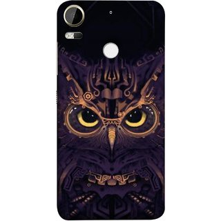 FUSON Designer Back Case Cover For HTC Desire 10 Pro (Big Eye Danger Perfect Owl Bird Mysterious)