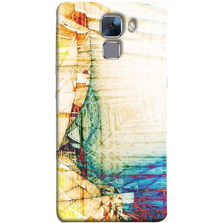 FUSON Designer Back Case Cover For Huawei Honor 7 :: Huawei Honor 7 (Enhanced Edition) :: Huawei Honor 7 Dual SIM (Architect  Design Wood Pattern Curvilinear Plan Year)
