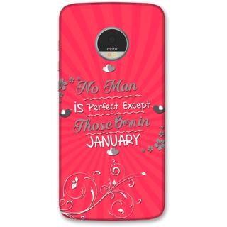 Moto Z Play Designer Hard-Plastic Phone Cover from Print Opera -Perfect men born on january