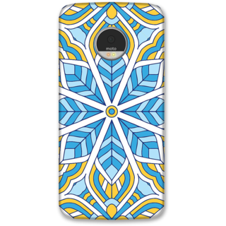 Moto Z Designer Hard-Plastic Phone Cover from Print Opera -Colorful flowers