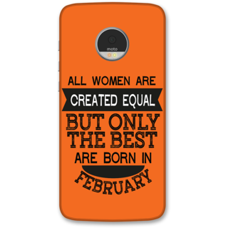 Moto Z Designer Hard-Plastic Phone Cover from Print Opera -Women born in february