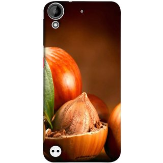 FUSON Designer Back Case Cover For HTC Desire 530 (Almond With Shell That?S Lot Of Nuts Food Energy )