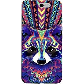 FUSON Designer Back Case Cover For InFocus M812 (Dog Cat Kitten Whisker Puppy Triangle Rectangle)