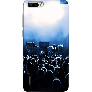 FUSON Designer Back Case Cover For Huawei Honor 6 Plus (Dancers Singers Instruments Piano Musical Concert)