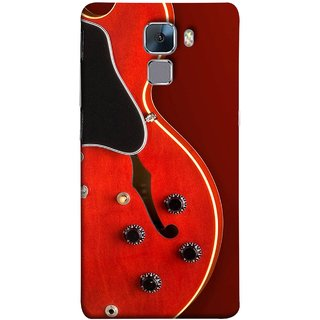 FUSON Designer Back Case Cover For Huawei Honor 7 :: Huawei Honor 7 (Enhanced Edition) :: Huawei Honor 7 Dual SIM (Close Up Of Electric Guitar Leaning On Amplifier )