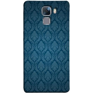 FUSON Designer Back Case Cover For Huawei Honor 7 :: Huawei Honor 7 (Enhanced Edition) :: Huawei Honor 7 Dual SIM (Blue Artwork Student Spots Amazing Plywood Table Cloth)