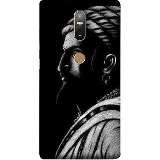 FUSON Designer Back Case Cover For Lenovo Phab 2 Plus :: Lenovo Phab2+ (Chatrapati Shivaji Maharaj Sideview Jiretop With Beard)
