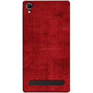 FUSON Designer Back Case Cover For Intex Aqua Power Plus :: Intex Aqua Power + (Cloth Design Dark Red Maroon Paper Sheet Bloody)