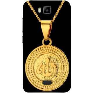 FUSON Designer Back Case Cover For Huawei Honor Bee :: Huawei Honor Bee Y5c (Allah Pendant Necklace For Men Middle East Necklaces)