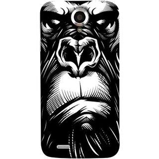 FUSON Designer Back Case Cover For Lenovo S820 (Animal Background Open Ears Black Hairs Jungle Nose)