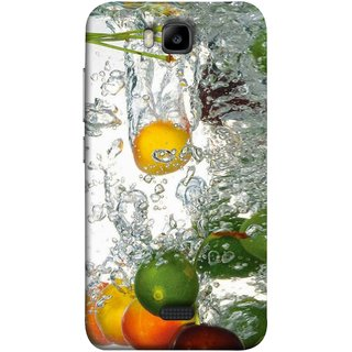 FUSON Designer Back Case Cover For Huawei Honor Bee :: Huawei Honor Bee Y5c (Lot Of Green Yellow Lemons Apples Fruits )