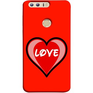 FUSON Designer Back Case Cover For Huawei Honor 8 (Pink Red Wallpapers Flowers Lovers Boyfriends )
