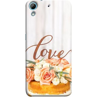 FUSON Designer Back Case Cover For HTC Desire 728 Dual Sim :: HTC Desire 728G Dual Sim (Cake Pink Rose Birthday & Decoration Ceremony Lily)