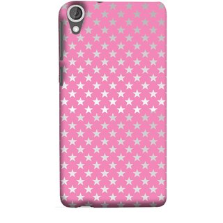 FUSON Designer Back Case Cover For HTC Desire 825 (Small Lot Of Stars Baby Pink Back Shining Glossy Baby)