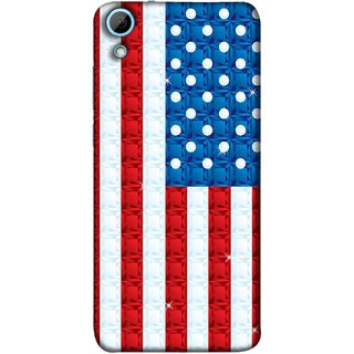 FUSON Designer Back Case Cover For HTC Desire 628 :: HTC Desire 628 Dual Sim  (United Stated Of America Flag Embroidered Stars)