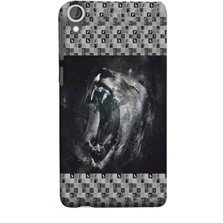 FUSON Designer Back Case Cover For HTC Desire 825 (Grey Canvas Wallpaper Grey Background Leopards)