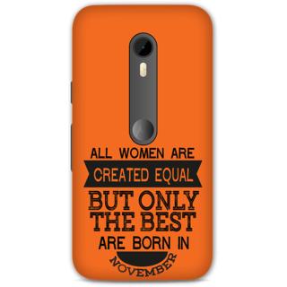 Moto G Turbo Designer Hard-Plastic Phone Cover from Print Opera -Women born in November