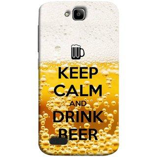 FUSON Designer Back Case Cover For Huawei Honor Holly (Beer Sign Glasses Bubbles Daaru Drink Wine Vodka)