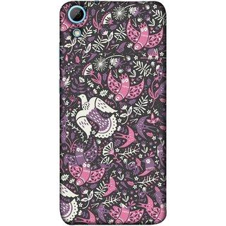 FUSON Designer Back Case Cover For HTC Desire 628 :: HTC Desire 628 Dual Sim  (Pink White Beige Colour Leaves Flowers Walldesign Gift )