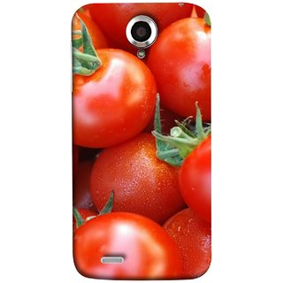 FUSON Designer Back Case Cover For Lenovo S820 (Ripe Red Cherry Tomatoes Background Shiny Beautiful)