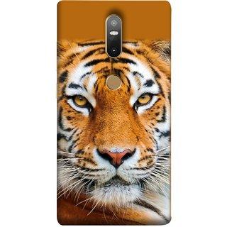 FUSON Designer Back Case Cover For Lenovo Phab 2 Plus :: Lenovo Phab2+ (Wild Jungle Tigers Whisker Roaring Sitting Safari India)