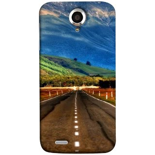 FUSON Designer Back Case Cover For Lenovo S820 (Scenic Road And Beautiful Mountains Highway Nature)