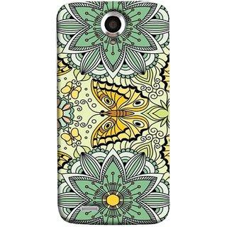 FUSON Designer Back Case Cover For Lenovo S820 (Vintage Floral Seamless Pattern With Roses Leaves )