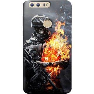 FUSON Designer Back Case Cover For Huawei Honor 8 (Golden Division  Masks Iraqi Special Forces )