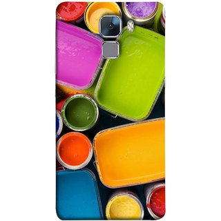 FUSON Designer Back Case Cover For Huawei Honor 7 :: Huawei Honor 7 (Enhanced Edition) :: Huawei Honor 7 Dual SIM (Cans And Paint On Colour Background Bright Full Joy )
