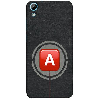 FUSON Designer Back Case Cover For HTC Desire 820 :: HTC Desire 820 Dual Sim ::  HTC Desire 820S Dual Sim :: HTC Desire 820Q Dual Sim ::  HTC Desire 820G+ Dual Sim (A Is Ok Initial Red Glossy Round Icon A Random Red)
