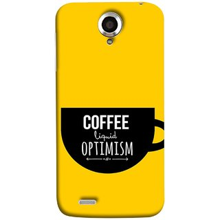 FUSON Designer Back Case Cover For Lenovo S820 (Lost Bumblebee Right Coffee Fuel Buy Gourmet Coffee)