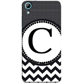 FUSON Designer Back Case Cover For HTC Desire 826 :: HTC Desire 826 Dual Sim (Alphabets Dots Black Shade Wave Patterns White)