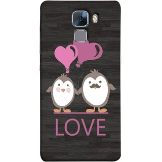 FUSON Designer Back Case Cover For Huawei Honor 7 :: Huawei Honor 7 (Enhanced Edition) :: Huawei Honor 7 Dual SIM (Feeling Loved With Each Other Valentine Day)