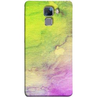 FUSON Designer Back Case Cover For Huawei Honor 7 :: Huawei Honor 7 (Enhanced Edition) :: Huawei Honor 7 Dual SIM (Artwork Acid Bright Wallpaper Purple Green Mix)