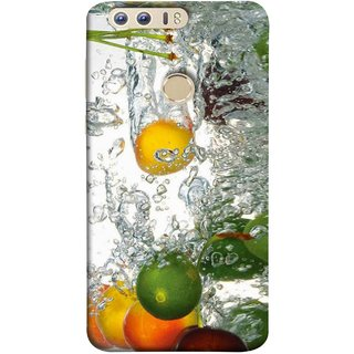 FUSON Designer Back Case Cover For Huawei Honor 8 (Lot Of Green Yellow Lemons Apples Fruits )