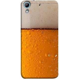 FUSON Designer Back Case Cover For HTC Desire 728 Dual Sim :: HTC Desire 728G Dual Sim (Cold Chilled Beer Glass Tub Pint Bubbles Full)