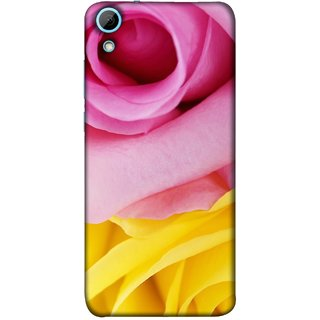 FUSON Designer Back Case Cover For HTC Desire 628 :: HTC Desire 628 Dual Sim  (Pink Red Baby Yellow Shades Friendship Flowers Roses)