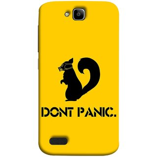 FUSON Designer Back Case Cover For Huawei Honor Holly (Never Panic Stay Cool And Solve Relax Always)