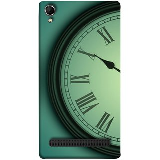 FUSON Designer Back Case Cover For Intex Aqua Power Plus :: Intex Aqua Power + (Time Lapse Of Antique Clock Old Wooden Vintage Time)