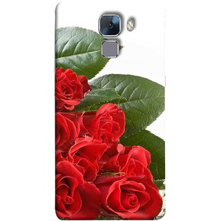FUSON Designer Back Case Cover For Huawei Honor 7 :: Huawei Honor 7 (Enhanced Edition) :: Huawei Honor 7 Dual SIM (Close Up Red Roses Chocolate Hearts For Valentines Day)