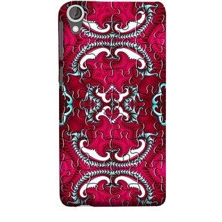 FUSON Designer Back Case Cover For HTC Desire 825 (Best Wallpaper Red Dark Shade Table Design Artwork)