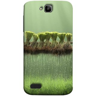 FUSON Designer Back Case Cover For Huawei Honor Holly (Sheaves Of Recently Harvested Rice Hanging To Dry)